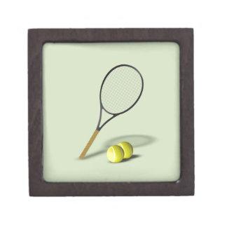 Tennis Set Sport Premium Trinket Box