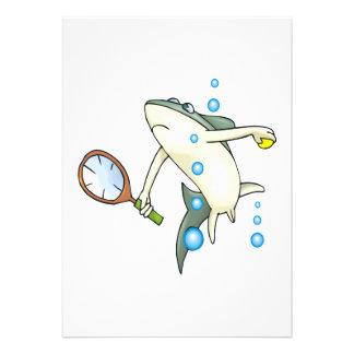 Tennis Shark Custom Invitations