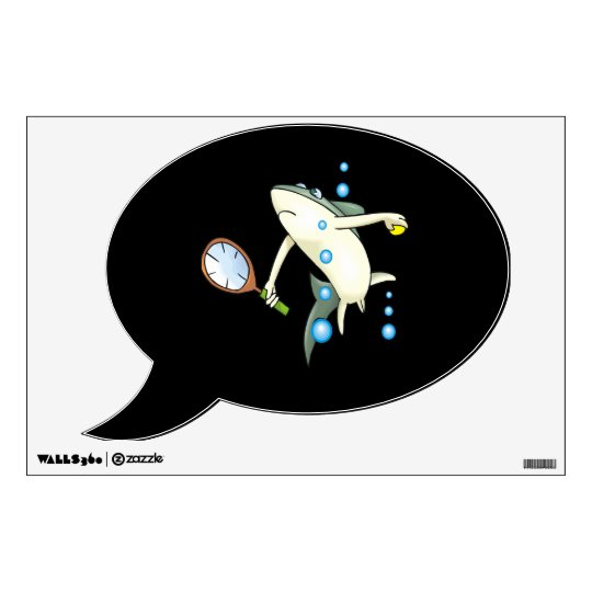 Tennis Shark.png Wall Sticker