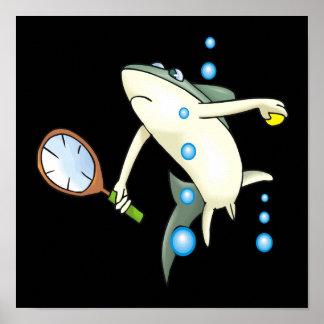 Tennis Shark Poster