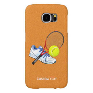 Tennis Shoe Ball And Racket With Your Custom Text Samsung Galaxy S6 Case
