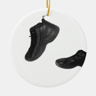 tennis shoe ceramic ornament