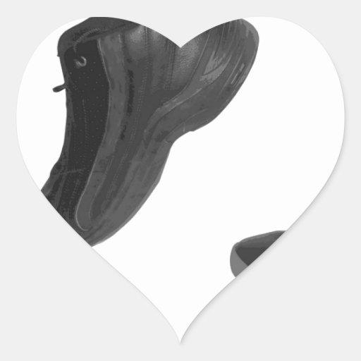tennis shoe heart sticker