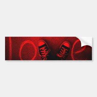 Tennis Shoe Love Car Bumper Sticker