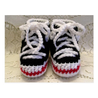 Tennis Shoes Baby Booties Postcard