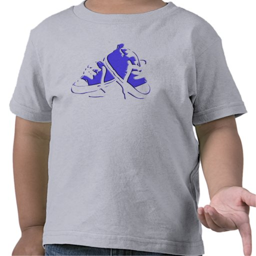 Tennis Shoes-Blue Toddler Tee
