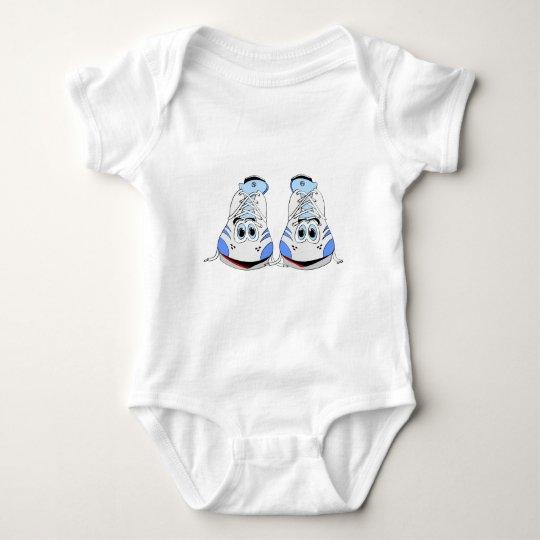 Tennis Shoes Cartoon Baby Bodysuit