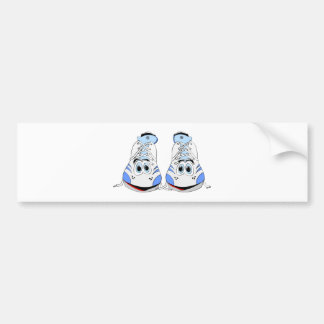 Tennis Shoes Cartoon Bumper Stickers