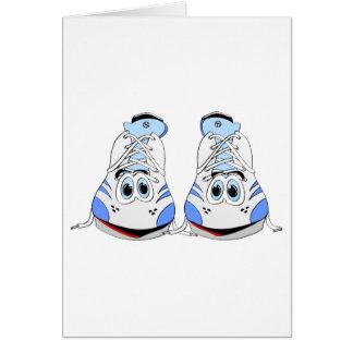 Tennis Shoes Cartoon Cards