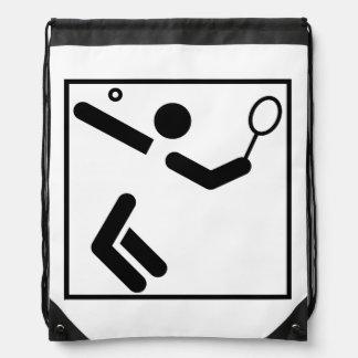 Tennis Silhouette Figure Backpacks