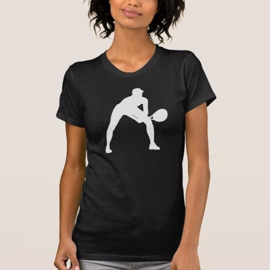 Tennis Silhouette in Black on Shirt