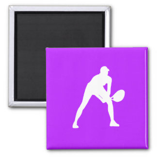 Tennis Silhouette Magnet Purple