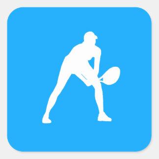 Tennis Silhouette Sticker Blue