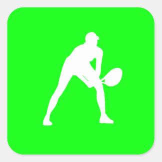 Tennis Silhouette Sticker Green