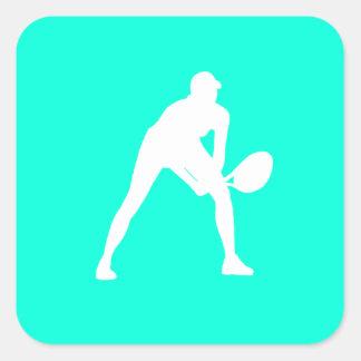 Tennis Silhouette Sticker Turquoise