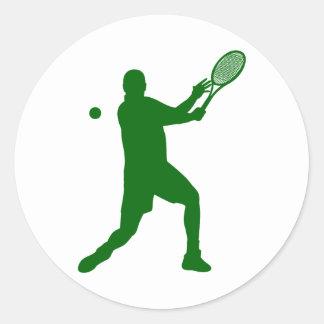 tennis silhouettes classic round sticker