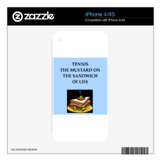 tennis decals for iPhone 4S