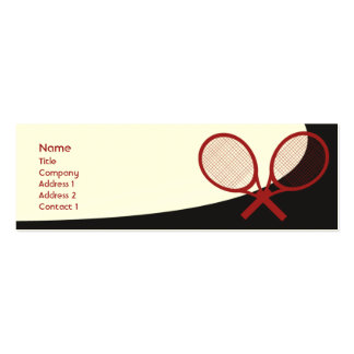 Tennis - Skinny Double-Sided Mini Business Cards (Pack Of 20)