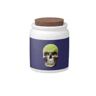Tennis Skull Candy Dish