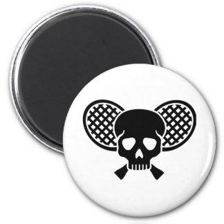 Tennis skull magnet