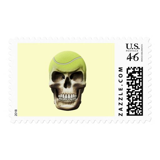 Tennis Skull Stamp