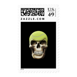 Tennis Skull Postage Stamps