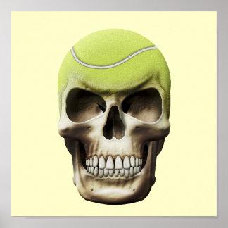 Tennis Skull Poster