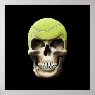 Tennis Skull Print