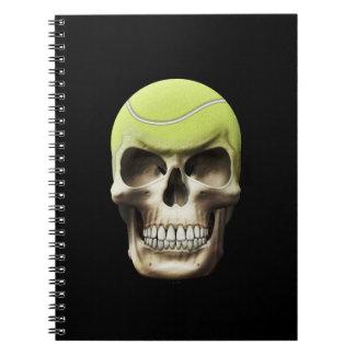 Tennis Skull Spiral Notebook