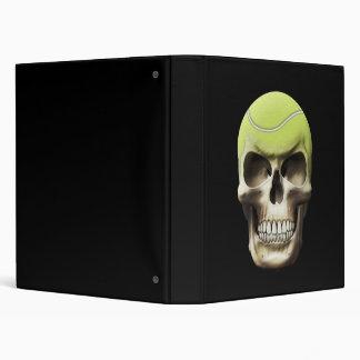 Tennis Skull Vinyl Binder
