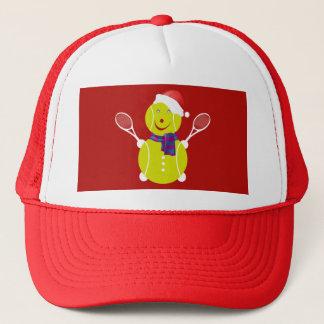 Tennis snowman trucker hat