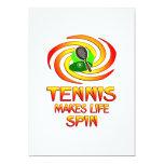 Tennis Spins 5x7 Paper Invitation Card