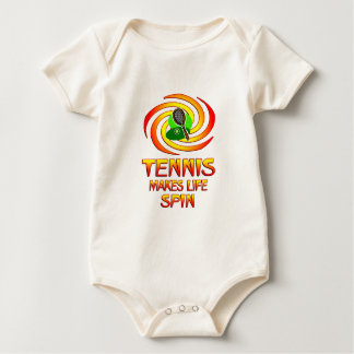 Tennis Spins Baby Bodysuit