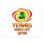 Tennis Spins Postcard