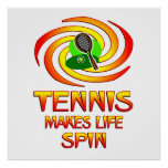 Tennis Spins Posters