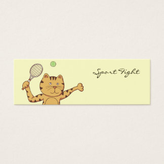 Tennis sport bookmark mini business card