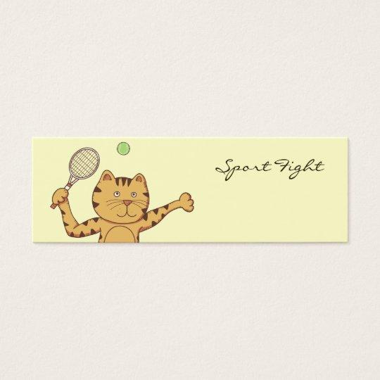 Tennis sport bookmark mini business card