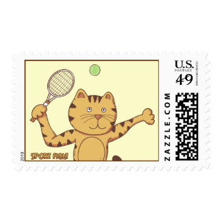 Tennis Sport Fight Postage