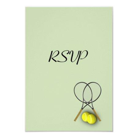 Tennis Sport RSVP Custom Invitations