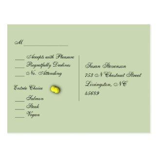 Tennis Sport RSVP Dinner Choices Postcard