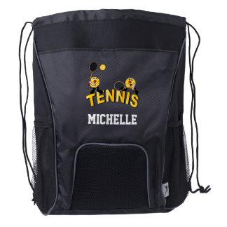 Tennis Sport Style | DIY Name Drawstring Backpack