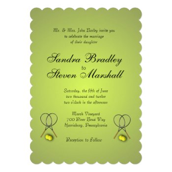 Tennis Sport Theme Silver Wedding Card