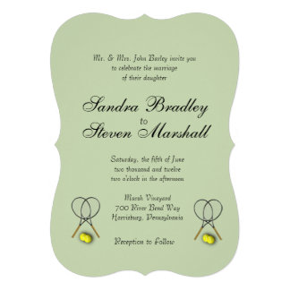 Tennis Sport Theme Wedding Card