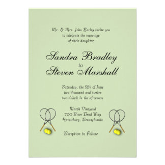 Tennis Sport Theme Wedding Invitation Card