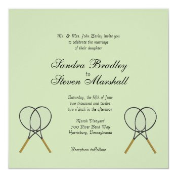 Tennis Sport Theme Wedding Invitations