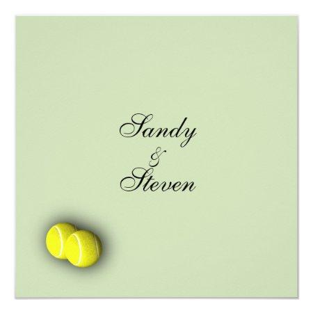 Tennis Sport Theme Wedding Invitations