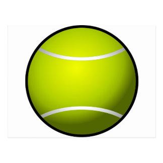 tennis sports ball green game team player court postcard