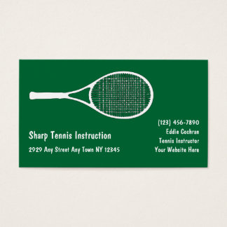 Tennis Sports Business Cards