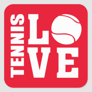 Tennis Square Sticker