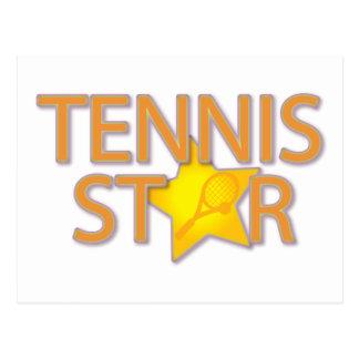 Tennis Star Postcard